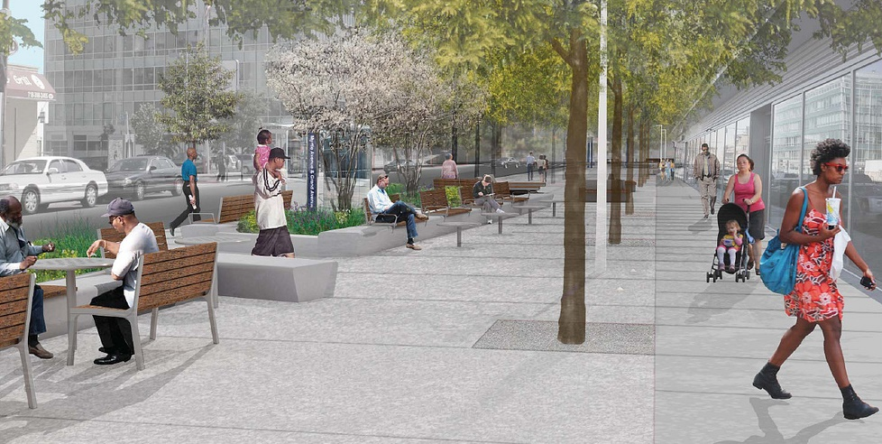 public design commission approves designs for myrtle plaza myrtle