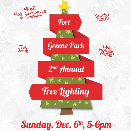 Tree Lighting Invite (Square)