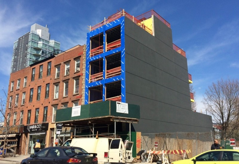 491 Myrtle Avenue: Five story building planned, with commercial space on the ground floor and apartments above.