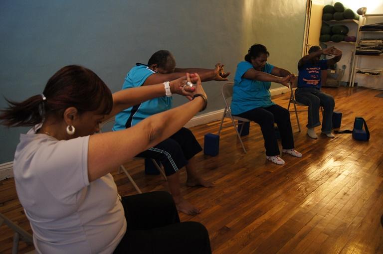 Age-Friendly Myrtle Avenue Chair Yoga in Clinton Hill Brooklyn