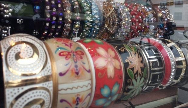 Bracelets from Shalena's Jewelry.