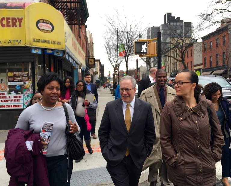 NYC Comptroller Visits Myrtle Avenue