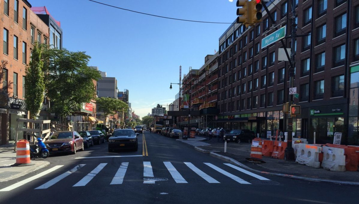 Two-way traffic returns to Myrtle Ave.